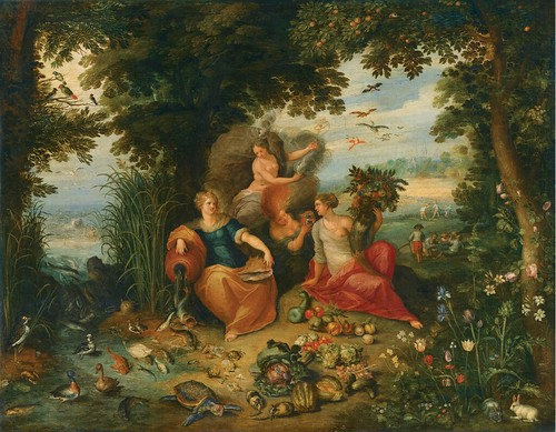 Jan Breughel the Younger & Frans Francken the Younger - Allegory of the Four Elements