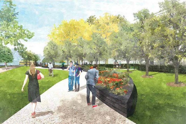rendering of heirloom & pollinator garden (by: OLBN, courtesy of NCPC)