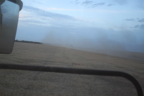 When the dust hangs at 8pm like this, it's gonna be an early night.