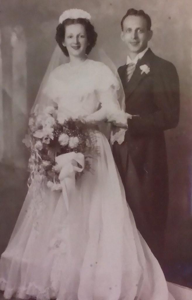 Parents' Wedding Portrait, July 3, 1948