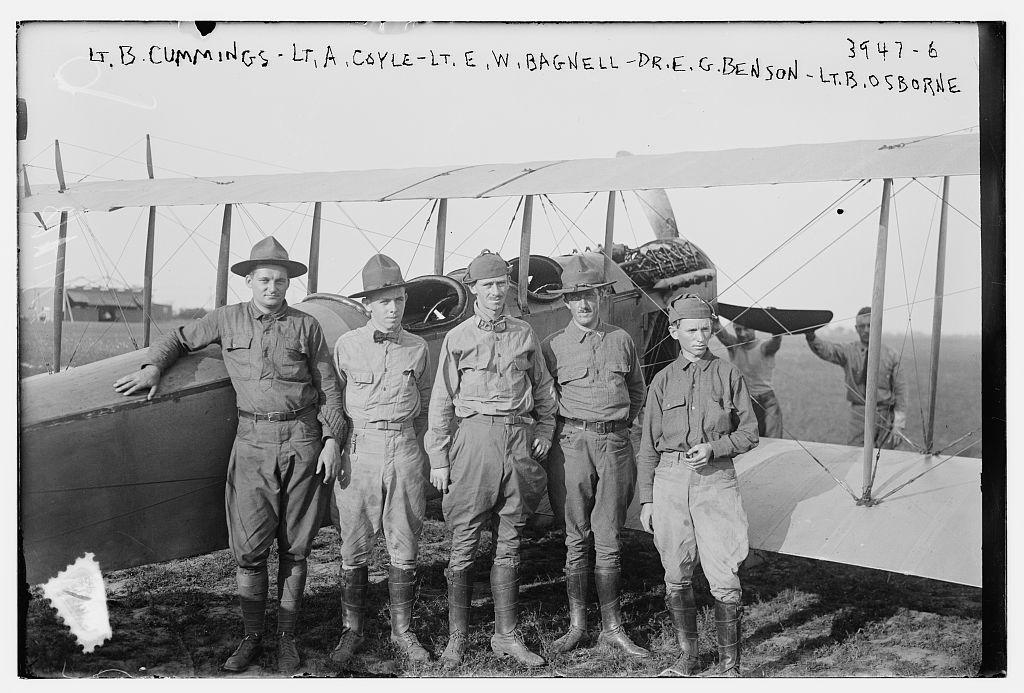 Lt. B. Cummings, Lt. A. Coyle, Lt. E.W. Bagnell, Dr. E.G. Benson, Lt. B. Osborne (LOC)