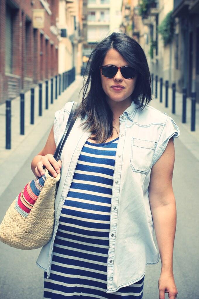 Look vestido largo embarazada