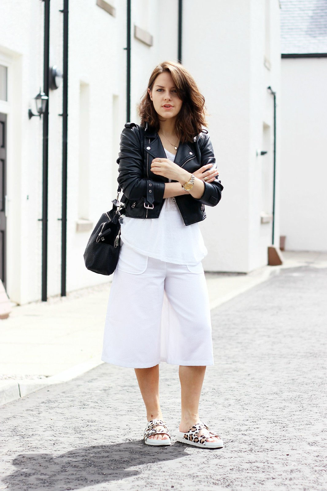 Hobbs long white culottes (1)