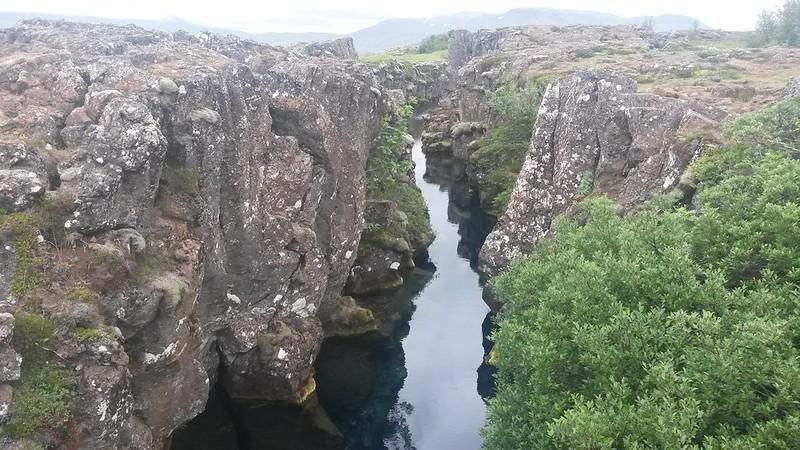 Almannagjá fault.silfra thingvellir iceland