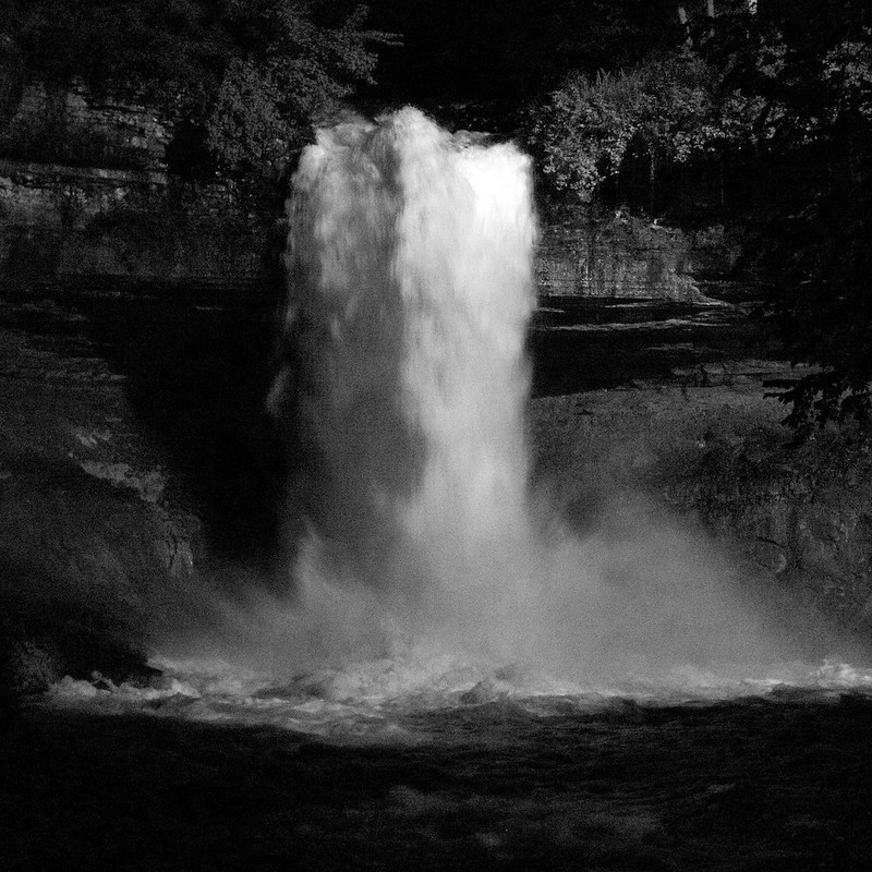 Minnehaha Falls at Night