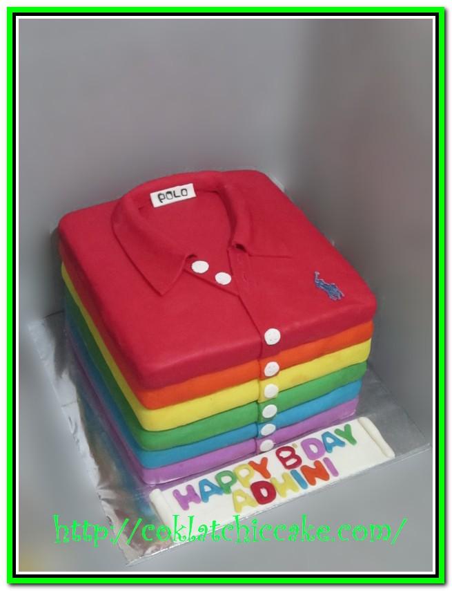 Kue ulang tahun kaos polo (t-shirt)