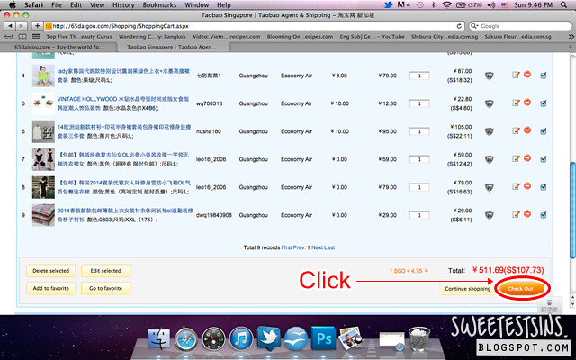 step by step guide on how to shop on taobao using 65daigou_check out