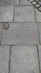 Photo of Charles Lyell stone plaque