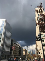 Dark cloud over Washington, DC