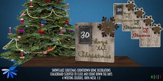 ZcZ Christmas Countdown Snowflake