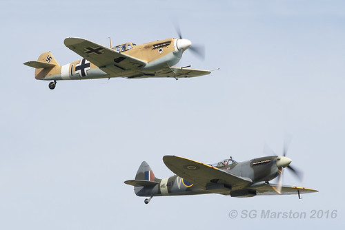 Spitfire and 109