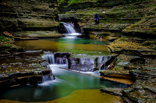 longexposure people newyork nature creek river flow waterfall fishing stream unitedstates ravine newyorkstate ithaca fingerlakes flowingwater buttermilkcreek viktorposnov