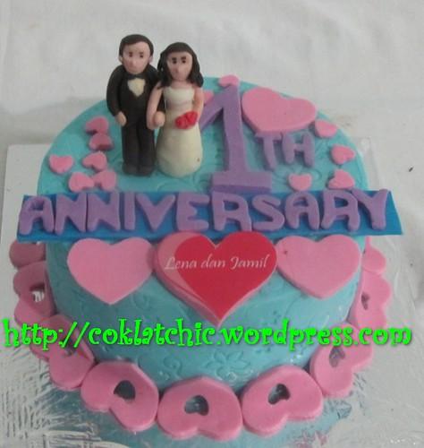 Kue anniversary dengan tema Cake Anniversary model ini mulai dari