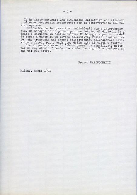 A. TO A. Pubblicazione in occasione della rassegna San Fedele 1970\71 8a Manifestazione