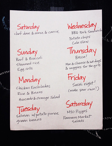 July 15, weekly meal plan