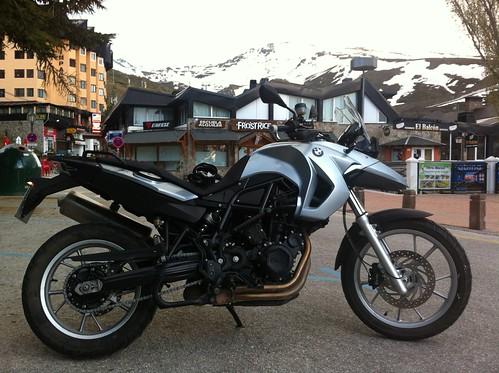 La moto en Sierra Nevada BMW F650 GS