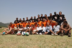 The complete Moroccan-French team of Rugby