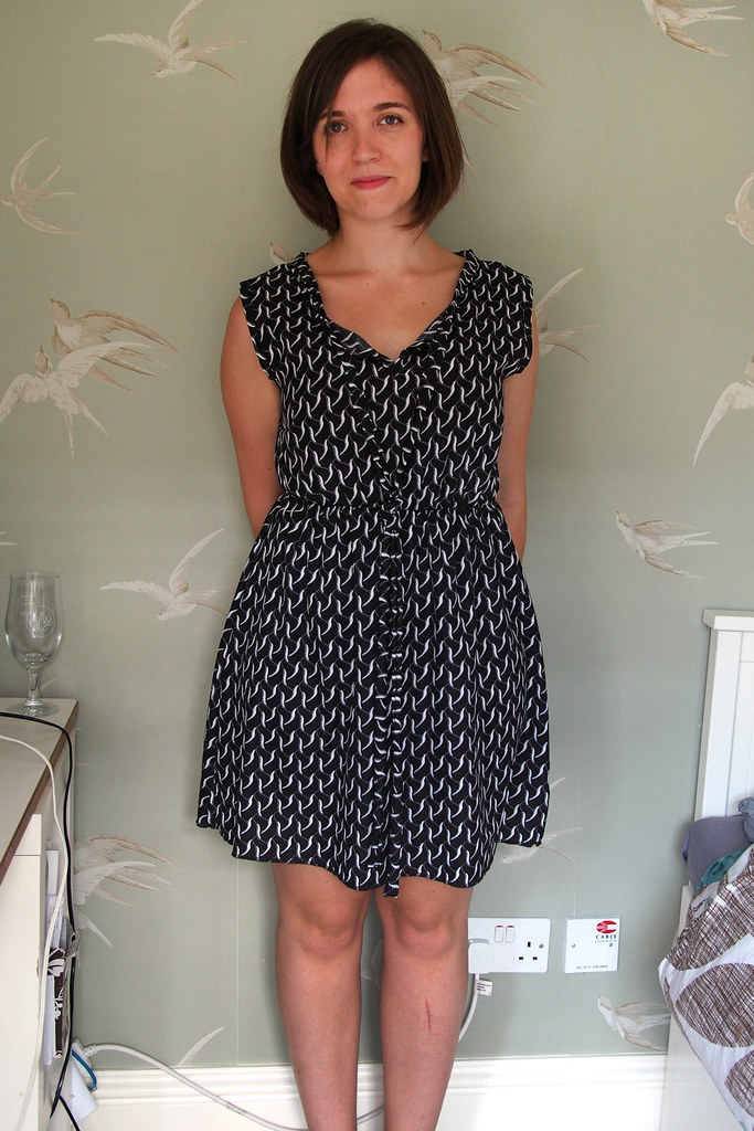 Salme pussybow dress