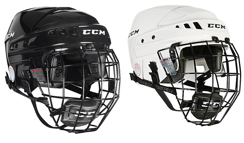 White Helmet White Cage Combo-helmet-with-cage