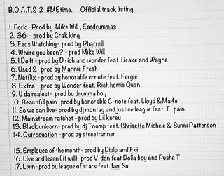 B.O.A.T.S. 2 #MEtime Tracklisting