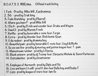 B.O.A.T.S. 2 #MEtime Tracklisting