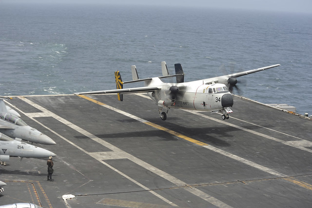 C 2a Greyhound Logistics Aircraft USS NIMITZ (CVN 68)_13...