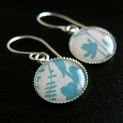 """Paper art"" earrings"