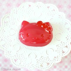 Raspberry Hello Kitty Jellies