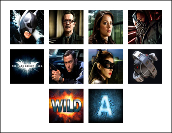 free The Dark Knight Rises slot game symbols