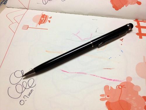 タッチペン付きボールペン 100円ショップ