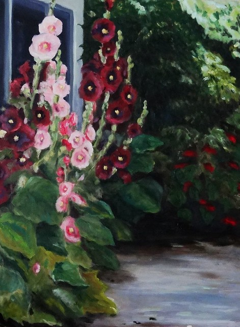 Lisa P Boni Hollyhocks 2013