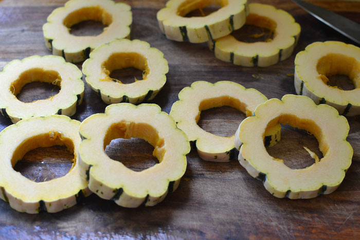 Roasted Delicata Squash with Sage and Ameretti Cookies via LittleFerraroKitchen.com