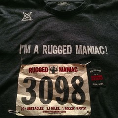 Another one for fun. This time with @ruggedmaniac #mudrun #mud #run #ruggedmaniac #5k #lakeelsinore #socal #obstacle #runitfast #instarunners #mudrunner #motivation #fitness went solo and ran with #teamonemanwolfpack!
