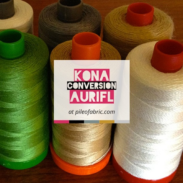 And for you #konacotton and #aurifil lovers download  a color conversion chart! @robertkaufman @aurifil