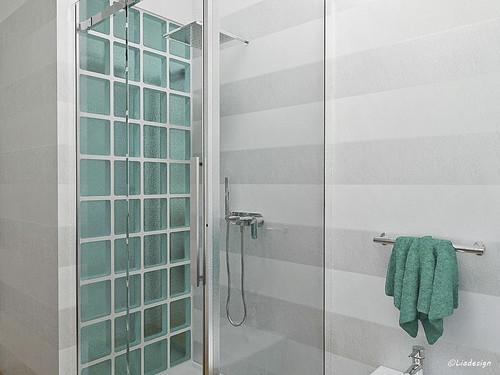 parete soggiorno vetrocemento parete vetrocemento in bagno con