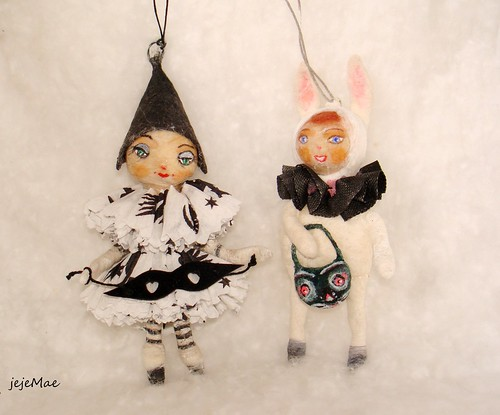 Spun cotton Halloween ornaments by jejeMae