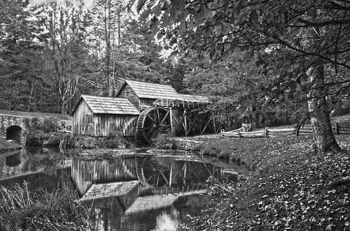mabry mill bw by DigiDreamGrafix.com