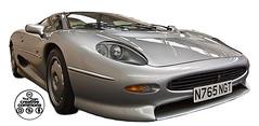 model car(0.0), aston martin db7(0.0), koenigsegg cc8s(0.0), race car(1.0), automobile(1.0), automotive exterior(1.0), vehicle(1.0), performance car(1.0), automotive design(1.0), jaguar xj220(1.0), bumper(1.0), land vehicle(1.0), supercar(1.0), sports car(1.0),