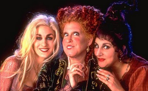 The three witches from Hocus Pocus