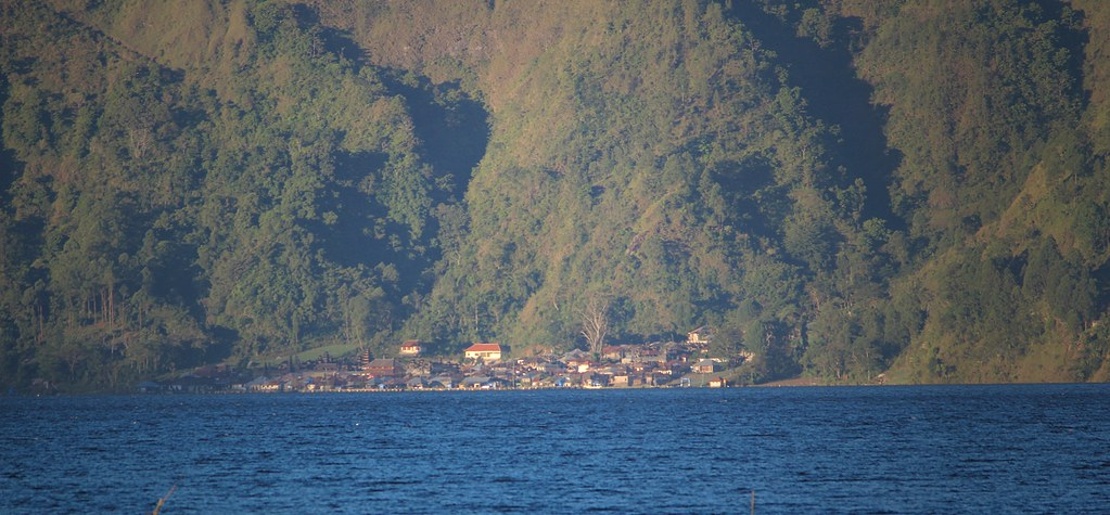 The Bali Aga village of Trunyan across Lake Batur