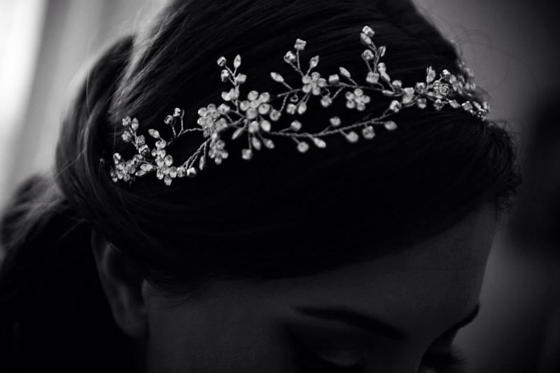 intricate Swarovski crystal bridal headband