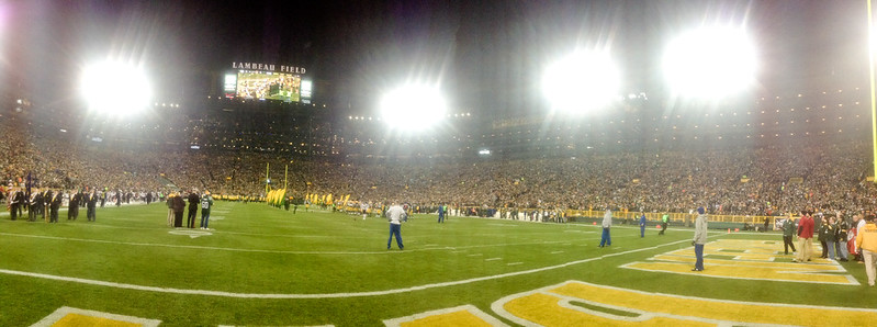 View on Lambeau Field