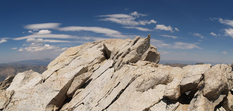 The summit of Matterhorn Peak, Yosemite