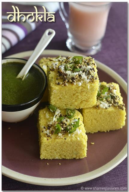 Dhokla recipe gujarati khaman dhokla sharmis passions dhokla recipe forumfinder Images
