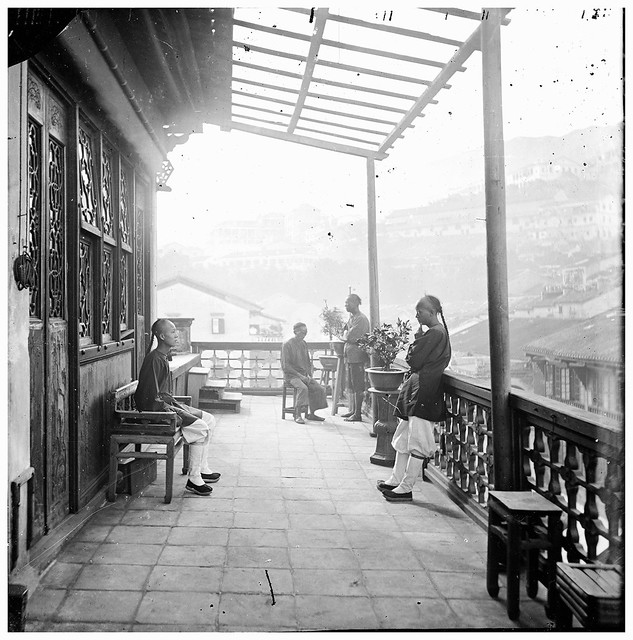 L0055625 Chinese tea-house, Hong Kong.