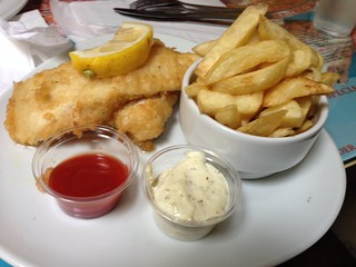 Smoked haddock and chips