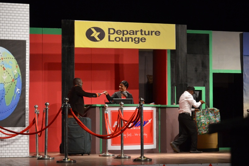 A scene from Uncle Ebo's play The Last Flight