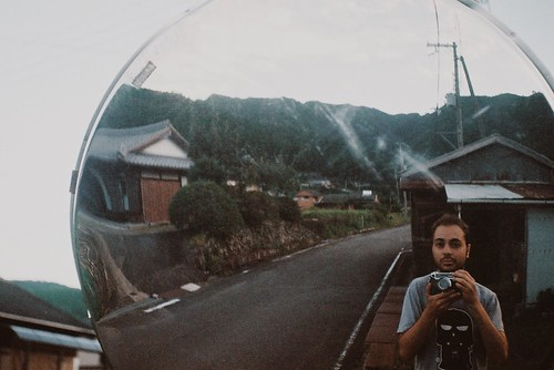Self portrait in rural Japan
