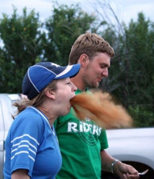 The perfectly timed cinnamon challenge picture: