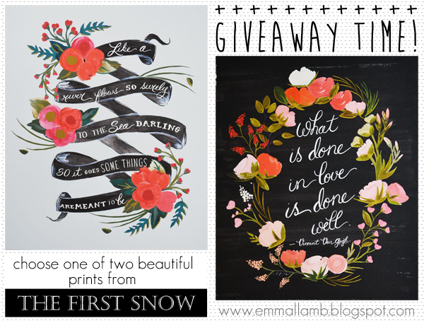 The First Snow giveaway winners announced! | Emma Lamb title=